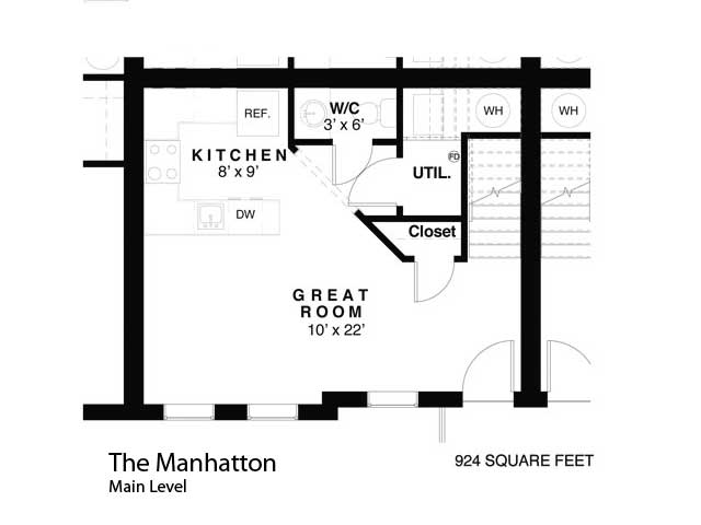 Condo   manhatton main level