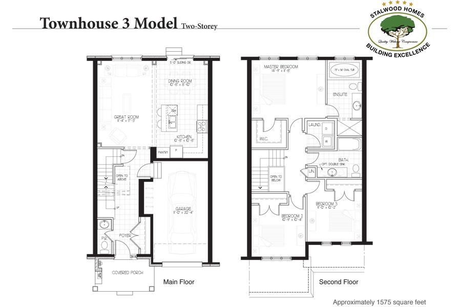 Townhouse 3 floorplan two storey